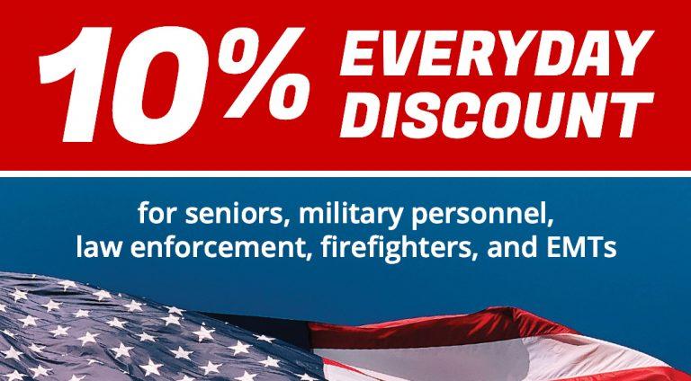Ten Percent Everyday Discount